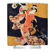 Futatsu Ogi Shower Curtain