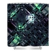 Future Metropolis Shower Curtain
