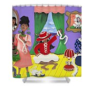 Future Reservations Shower Curtain by Patricia Sabree