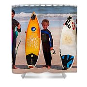 Future Surfing Champs Shower Curtain