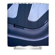 Futuristic Blue Shower Curtain