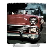 Fuzzy Dice Chevy Shower Curtain
