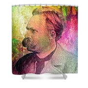 F.w. Nietzsche Shower Curtain