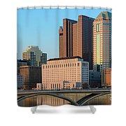 Fx1l922 Columbus Ohio Skyline Photo Shower Curtain