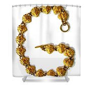 G . Golden Shower Curtain by Renee Trenholm