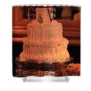 G And V Wedding Cake Shower Curtain