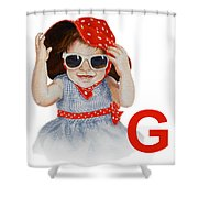 G Art Alphabet For Kids Room Shower Curtain