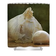 G Is For Garlic Shower Curtain