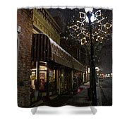 G Street Antique Store In The Snow Shower Curtain