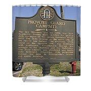 Ga-005-16 Provost Guard Campsite Shower Curtain