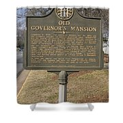 Ga-005-1b Old Governors Mansion Shower Curtain