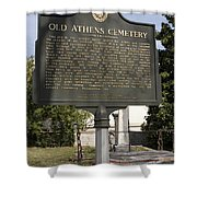 Ga-029-101 Old Athens Cemetery Shower Curtain