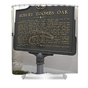 Ga-029-15 Robert Toombs Oak Shower Curtain