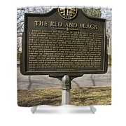Ga-029-18 The Red And Black Shower Curtain