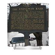 Ga-029-6 The Stoneman Raid Shower Curtain