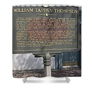 Ga-104-11 William Tappan Thompson Shower Curtain