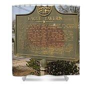 Ga-108-5 Eagle Tavern Shower Curtain