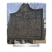 Ga-73-4 Hart County Shower Curtain