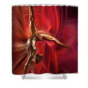 Gabby Douglas Gymnasts Shower Curtain by Blake Richards