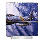 Gabby's F-86e Shower Curtain
