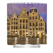 Gabled Buildings In Grand Place Shower Curtain