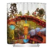 Gadget Go Coaster Disneyland Toontown Photo Art 02 Shower Curtain