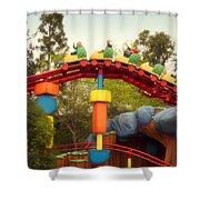 Gadget Go Coaster Disneyland Toontown Shower Curtain