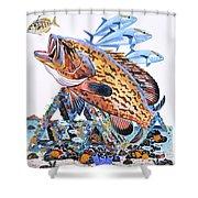 Gag Grouper Shower Curtain