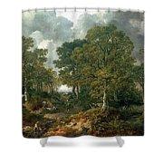 Gainsboroughs Forest Cornard Wood, C.1748 Oil On Canvas Shower Curtain