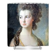 Gainsborough's The Hon. Mrs. Thomas Graham Up Close Shower Curtain