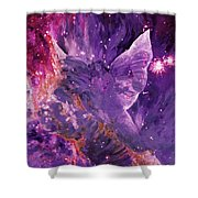 Galactic Angel - Rose Shower Curtain