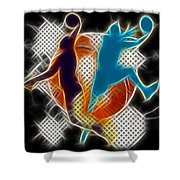 Galactic Dunk 3 Shower Curtain by David G Paul
