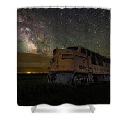 Galactic Express Shower Curtain