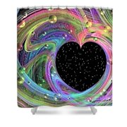 Galactic Love Shower Curtain