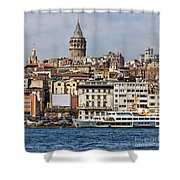 Galata Tower 03 Shower Curtain