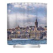 Galata Tower Istanbul Shower Curtain