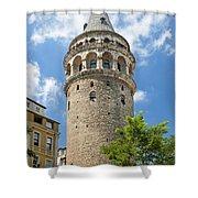 Galata Tower Landmark In Istanbul Turkey Shower Curtain
