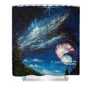 Galatic Horizon Shower Curtain