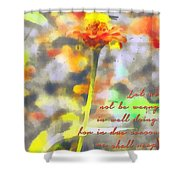 Galations 6 9 Shower Curtain