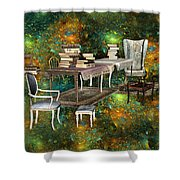 Galaxy Booking Shower Curtain