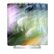 Galaxy Colors Shower Curtain