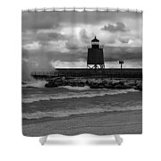 Gales Of November Mono Shower Curtain