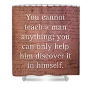 Galileo Quote Science Astronomy Math Physics Inspirational Words On Canvas Shower Curtain