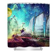 Galileo's Dream - Schooner Art By Sharon Cummings Shower Curtain