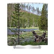 Gallatin River Yellowstone  Shower Curtain