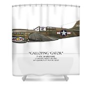 Galloping Gator P-40k Warhawk Shower Curtain