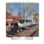 Galloping Goose 7 In The Colorado Railroad Museum Shower Curtain