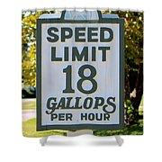 Gallops Per Hour Shower Curtain