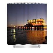 Galveston Fishing Pier 2am-108856 Shower Curtain