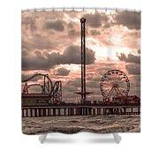 Galveston Island Morning Shower Curtain